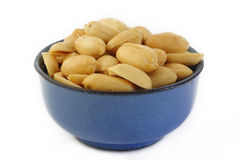 Peeled salted peanuts Royalty Free Stock Image