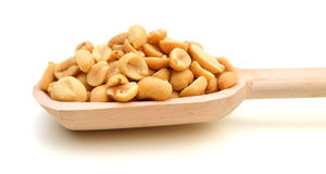 Peeled salted peanuts Stock Images