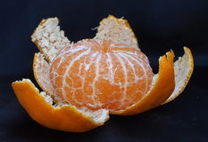 Peeled Satsuma Orange Royalty Free Stock Photography
