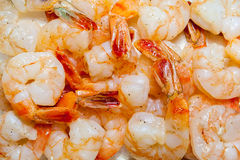 Peeled scampi Royalty Free Stock Image