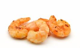Peeled shrimp. Several peeled shrimp surrounded by white background Stock Image