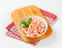 Peeled shrimps Stock Images