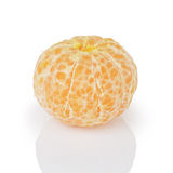 Peeled single tangerine Stock Image