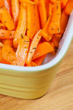 Peeled and sliced fresh organic carrots Royalty Free Stock Photo