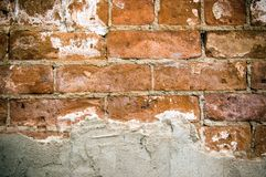 Peeled stucco brick Royalty Free Stock Photography