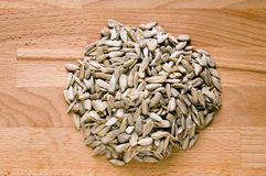 Peeled sunflower seeds Royalty Free Stock Images