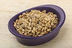 Peeled sunflower seeds royalty free stock photo