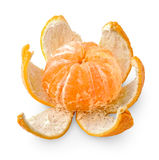 Peeled tangerine Stock Photography