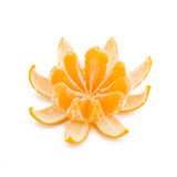 Peeled Tangerine Stock Images
