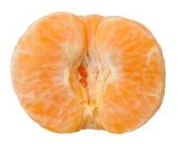 Peeled tangerine. Isolated on white background Royalty Free Stock Photo