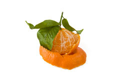 Peeled tangerine Stock Photo