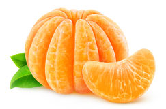 Peeled tangerine or clementine Stock Images