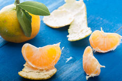 Peeled Tangerine Stock Images