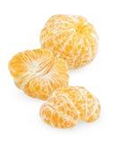Peeled tangerine fruit Stock Photography
