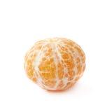 Peeled tangerine isolated Stock Photography
