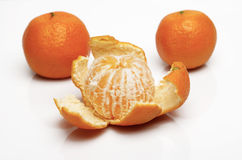 Peeled tangerine Royalty Free Stock Photos