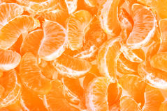 Peeled tangerine or mandarin fruit Stock Photo