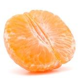 Peeled tangerine or mandarin fruit half Stock Photo