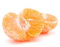 Peeled tangerine or mandarin fruit half Stock Image