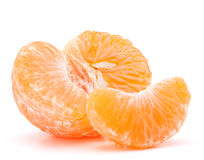 Peeled tangerine or mandarin fruit half Royalty Free Stock Photo