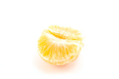 Peeled tangerine or mandarin fruit Royalty Free Stock Image