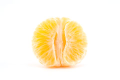 Peeled tangerine or mandarin fruit Stock Photo