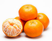Peeled tangerine. Royalty Free Stock Photography