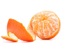 Peeled tangerine or mandarin fruit Royalty Free Stock Images