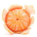Peeled tangerine or mandarin fruit Royalty Free Stock Photos