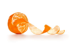 Peeled tangerine or mandarin Stock Photo