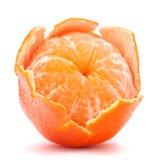 Peeled tangerine or mandarin fruit Stock Image