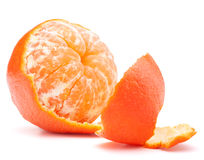 Peeled tangerine or mandarin fruit Royalty Free Stock Photo