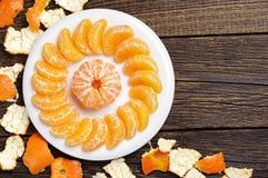 Peeled tangerine Royalty Free Stock Photography