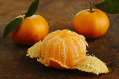 Peeled Tangerine Royalty Free Stock Image