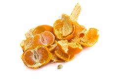 Peeled tangerine Stock Photo