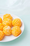 Peeled tangerines Royalty Free Stock Images