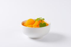 Peeled tangerines Stock Photos