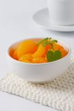 Peeled tangerines Stock Image