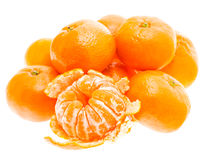 Peeled Tasty Sweet Tangerine Orange Mandarin Fruit Royalty Free Stock Photo