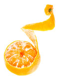 Peeled Tasty Sweet Tangerine Orange Mandarin Fruit Royalty Free Stock Photos