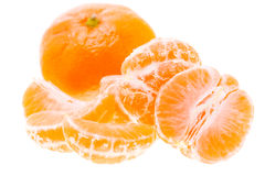 Peeled Tasty Sweet Tangerine Orange Mandarin Fruit Stock Photo