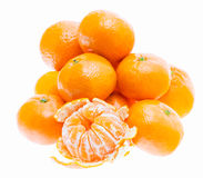Peeled Tasty Sweet Tangerine Orange Mandarin Fruit Isolated Royalty Free Stock Image