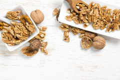 Peeled Walnut Heaps Royalty Free Stock Images