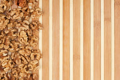 Peeled walnut lies Stock Photography