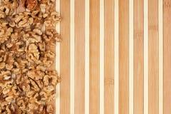 Peeled walnut lies Stock Photography