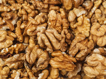 Peeled walnut texture Royalty Free Stock Photography