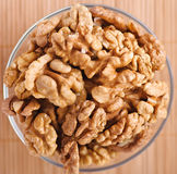 Peeled walnuts Stock Images
