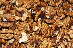 Peeled walnuts background Royalty Free Stock Photography