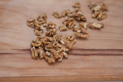 Peeled walnuts close-up Royalty Free Stock Photos