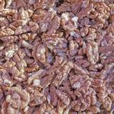 Peeled walnuts closeup Royalty Free Stock Photo